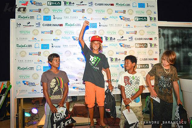 christian tio wins the kite kids race