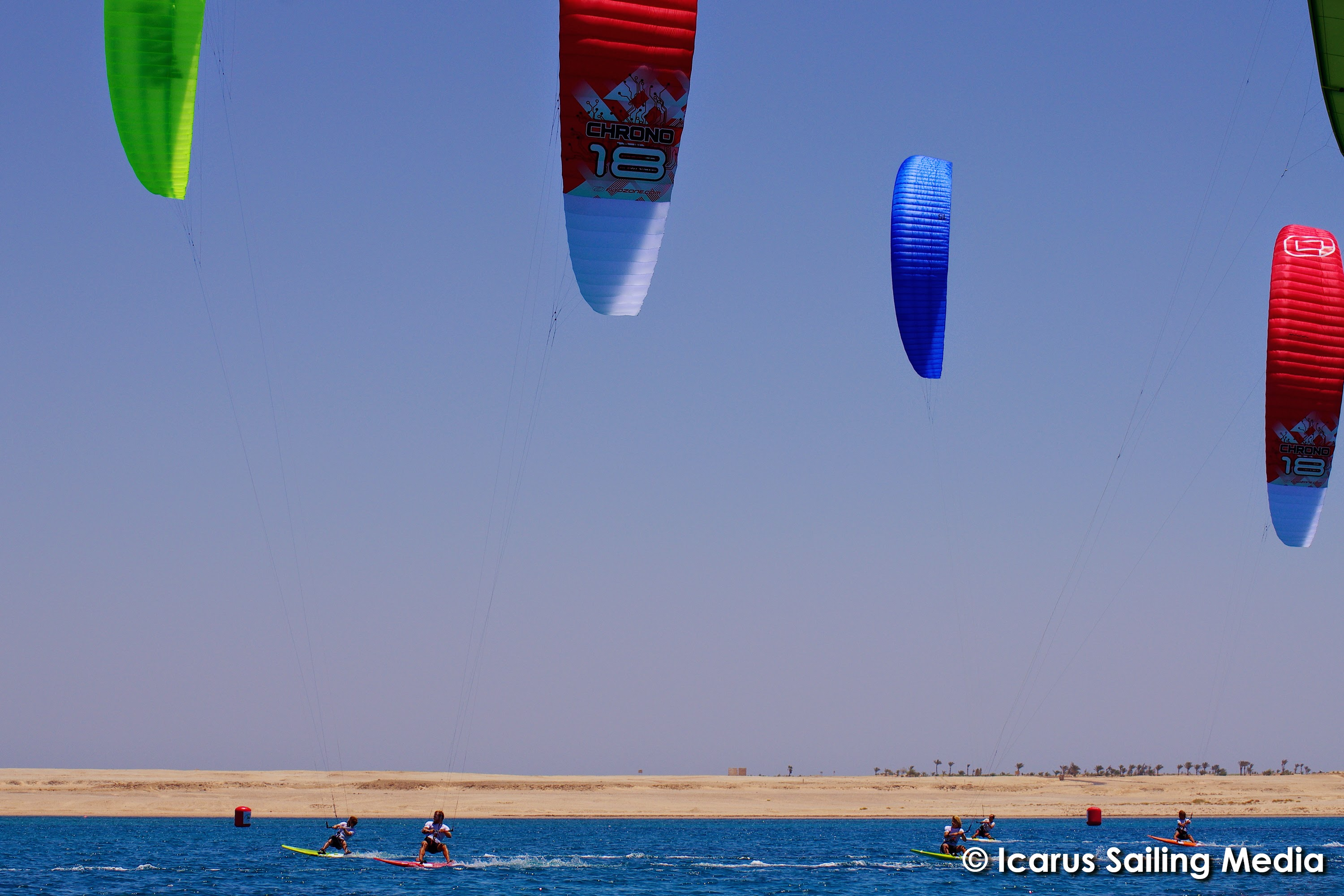 Foil Kites dominating in light wind